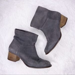 J. JILL / gray nubuck leather ankle boots / 10